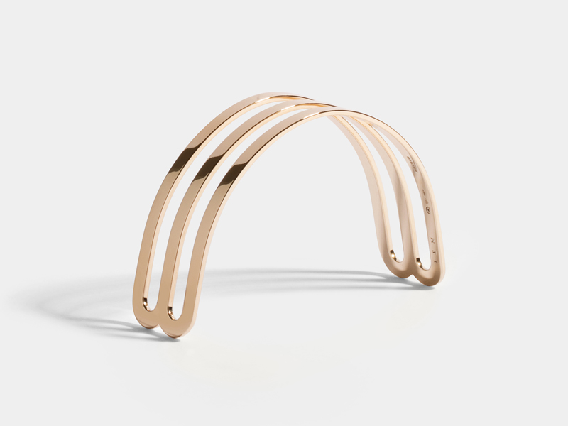 JEM - Half bracelet Etreintes mounted on Fairmined rose gold