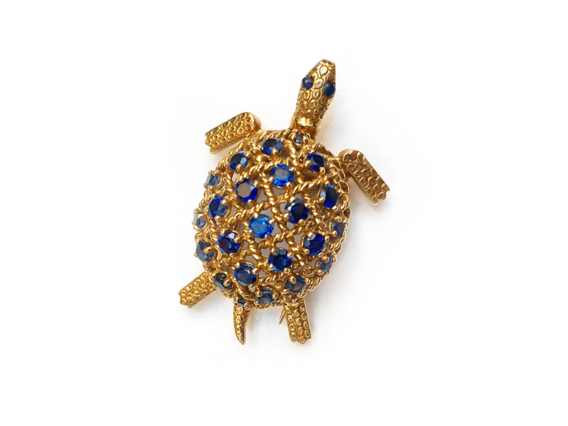 Cartier - Tortue en or et saphirs