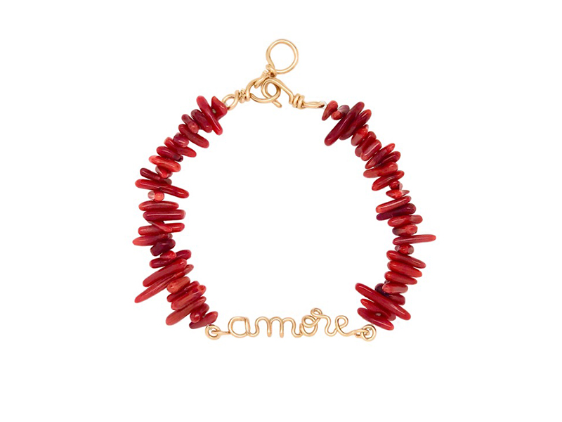 Atelier Paulin - Amor x Shaker Jewels Bracelet mixed with red coral