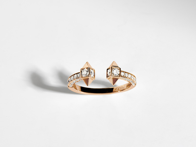 Statement - Bague Rockaway en or rose sertie de diamants