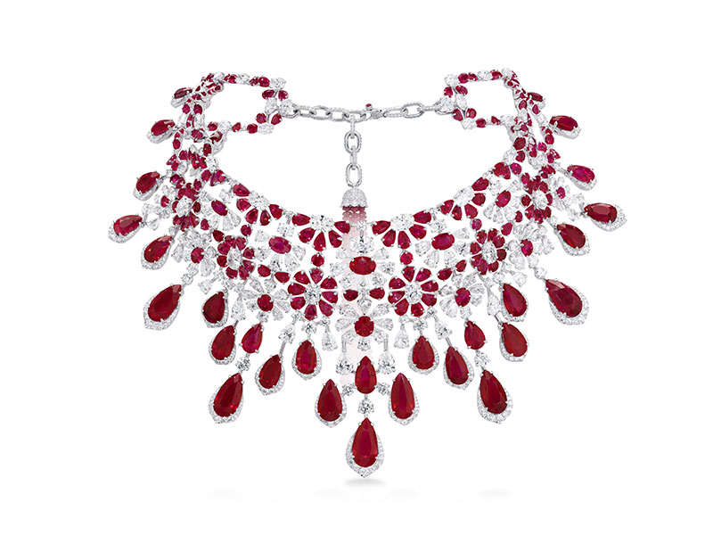 David Morris Collier rubis et diamant