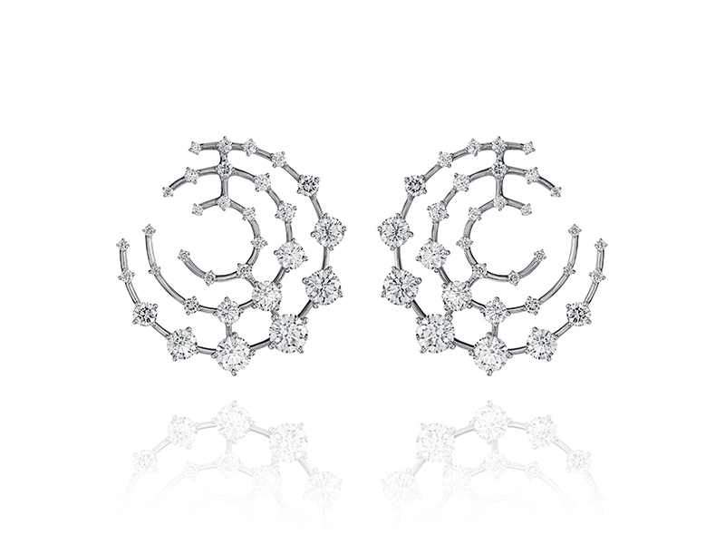 Fernando Jorge - High Brilliant Galaxy earrings on white gold set with diamonds