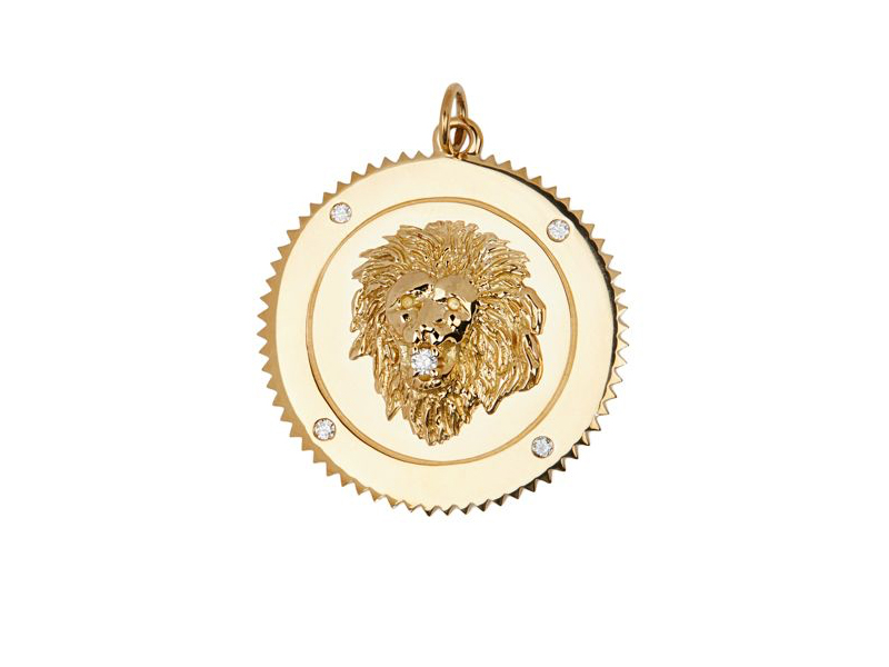 Foundrae - Grand médaillon, le lion symbolise la force, la dignité, la passion et la confiance en soi