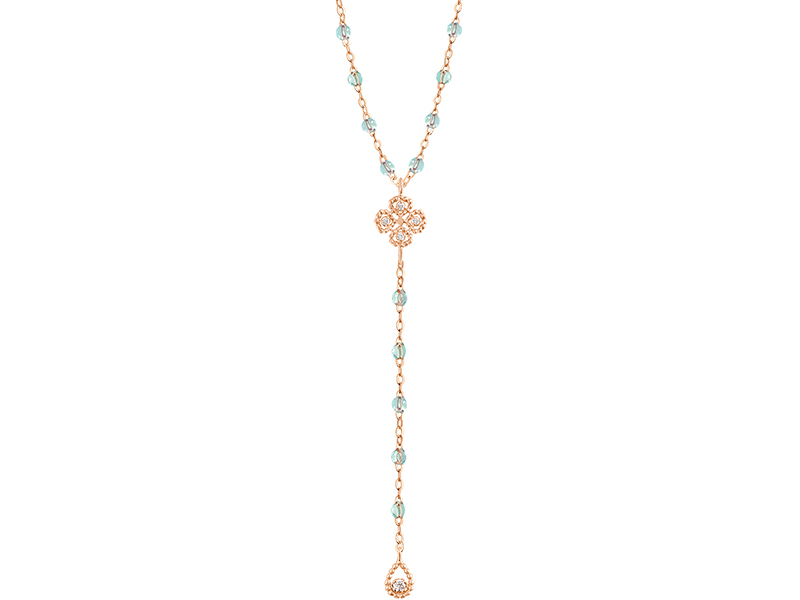 Gigi Clozeau - Lotus Clover Rosary in pink gold