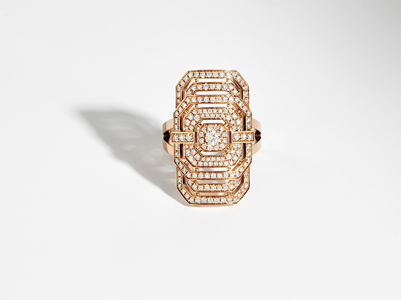 Statement - Bague My Way en or rose sertie de diamants