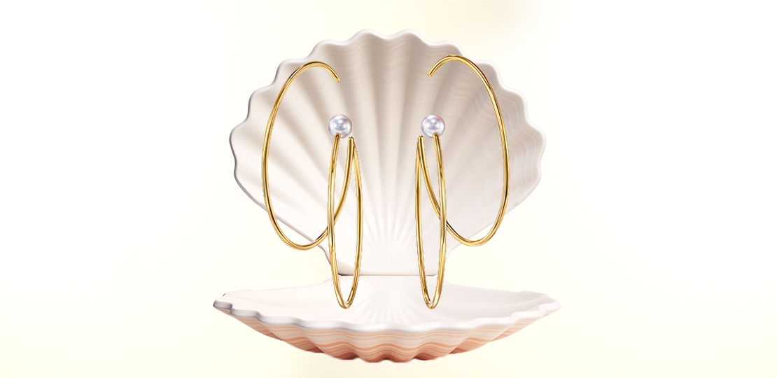Tasaki Earrings Sea Shell