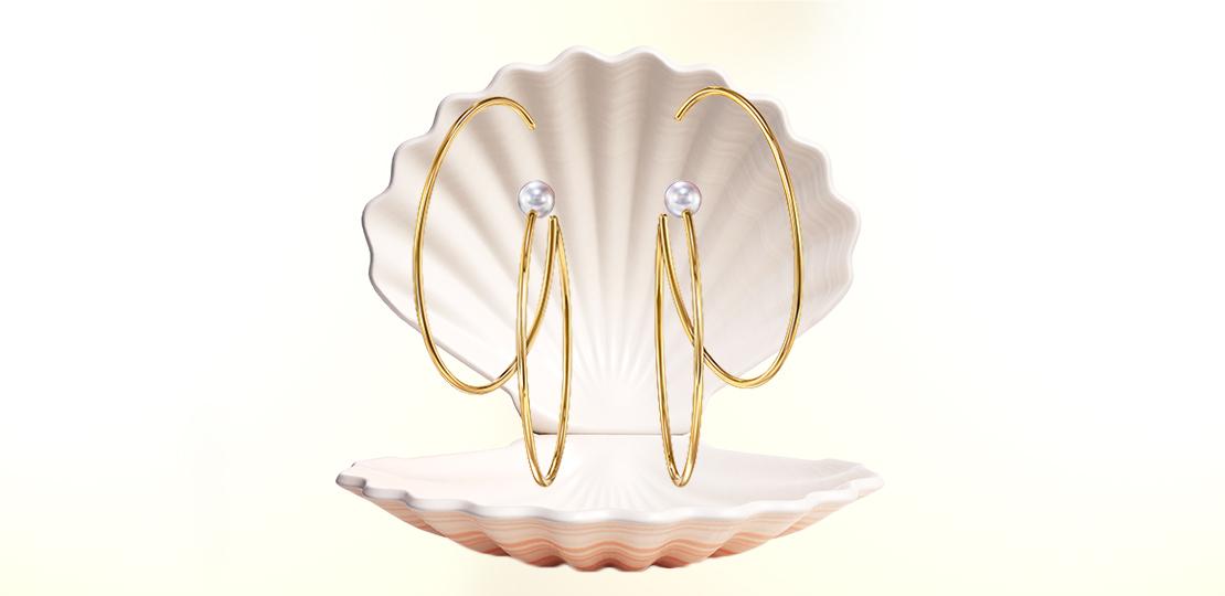 Tasaki Earrings Sea Shell