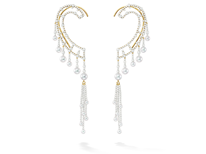 TASAKI - Ocean Frontier Waterfall earrings