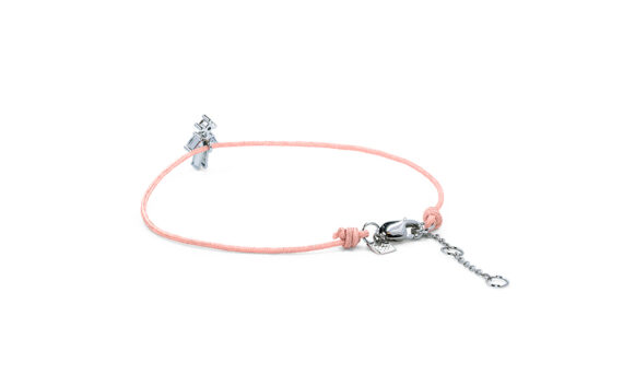 Little Ones Paris Little Boy nude color thread bracelet in white gold