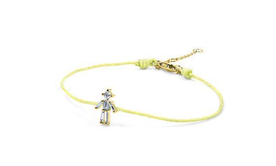 Little Ones Paris Little Boy yellow thread bracelet with six diamonds in yellow gold