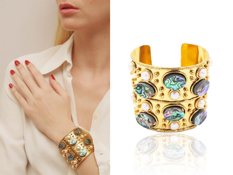 Sylvia Toledano - Byzance Sea Opale cuff