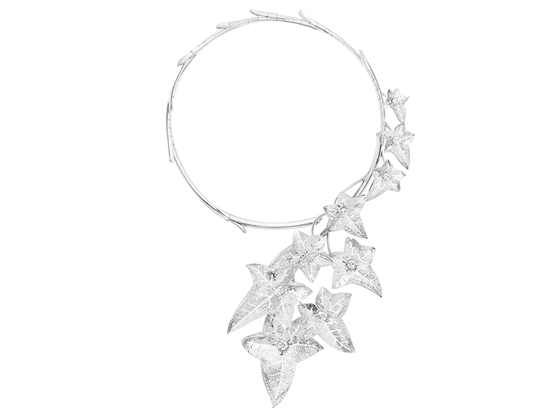 Boucheron - Collier Lierre de Paris en or blanc serti de diamants