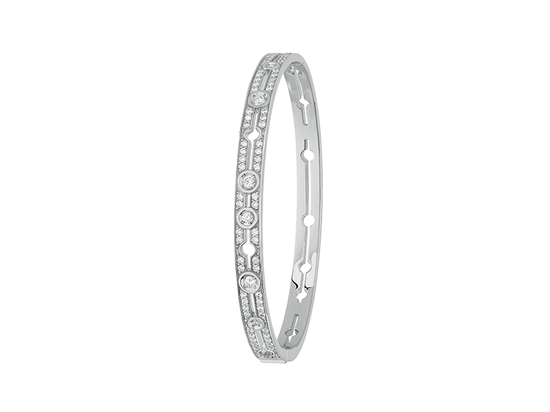 Dinh Van - Bracelet Pulse en or blanc pavé diamant
