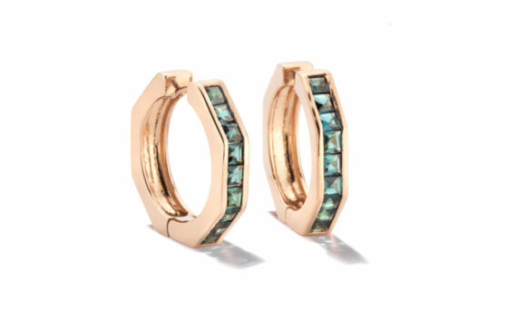 Jolly Bijou Otto earrings L rose gold indicolite tourmaline