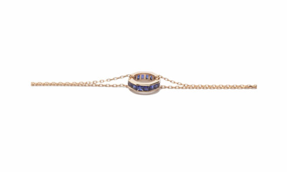 Jolly Bijou Otto bracelet blue sapphires rose gold