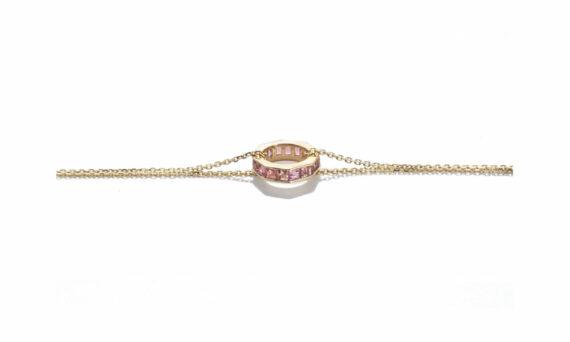 Jolly Bijou Otto bracelet yellow gold pink sapphires