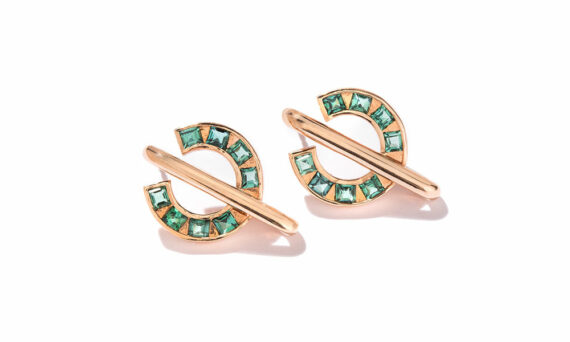 Sundial green earrings