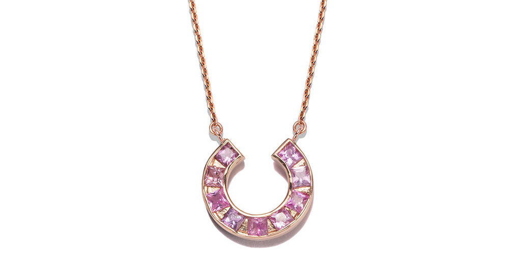 Sundial necklace pink