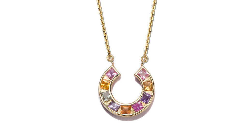 Sundial necklace multicolor