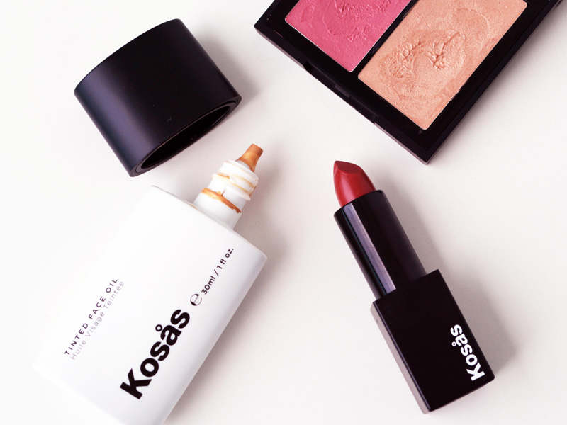 Kosas - Tinted face oil, color and light palette and weightless lip color