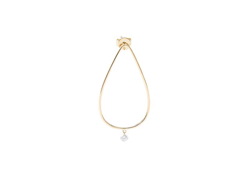 Persée Paris - Boucles d'oreilles géométriques en or jaune et diamant