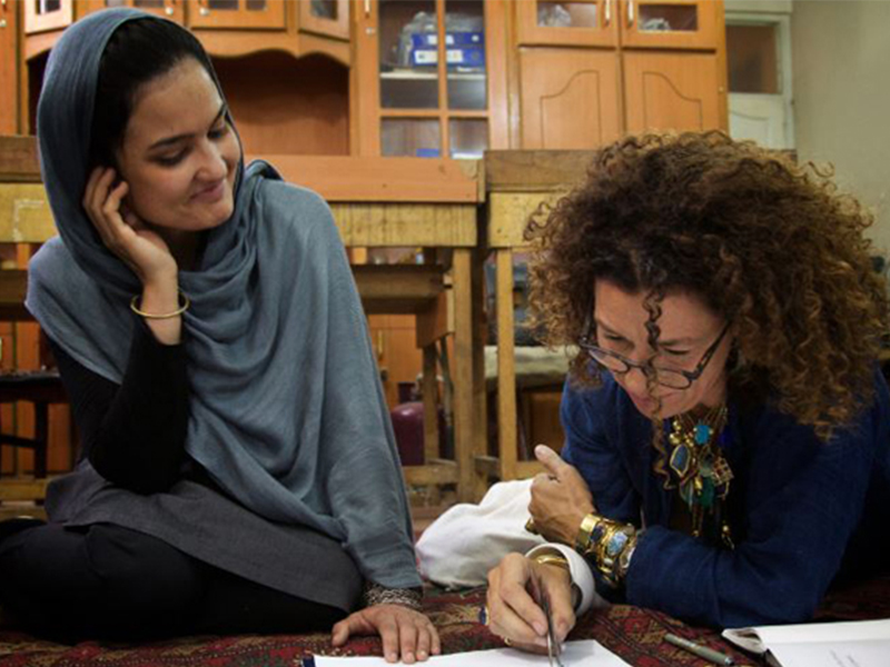 Saeeda and Pippa working together in Kabul