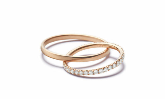 Sandrine de Laage Boyfriend ring rose gold diamond