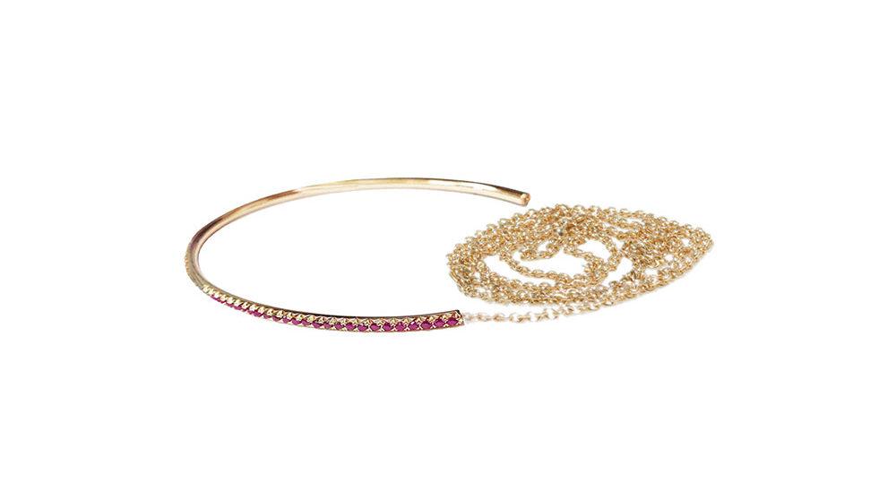 Freedom pink sapphire bracelet