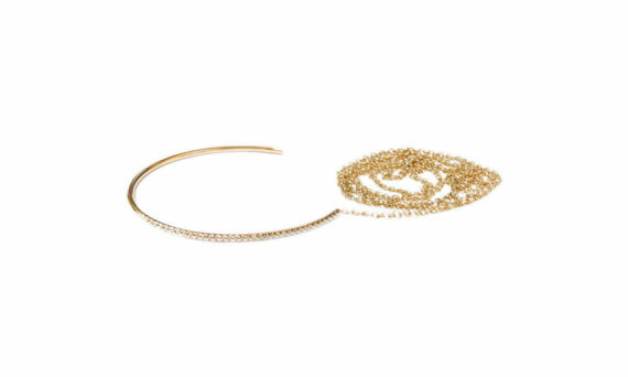 Sandrine de Laage Freedom bracelet yellow gold diamonds