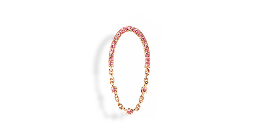 Boucle d'oreille Freedom XS saphir rose