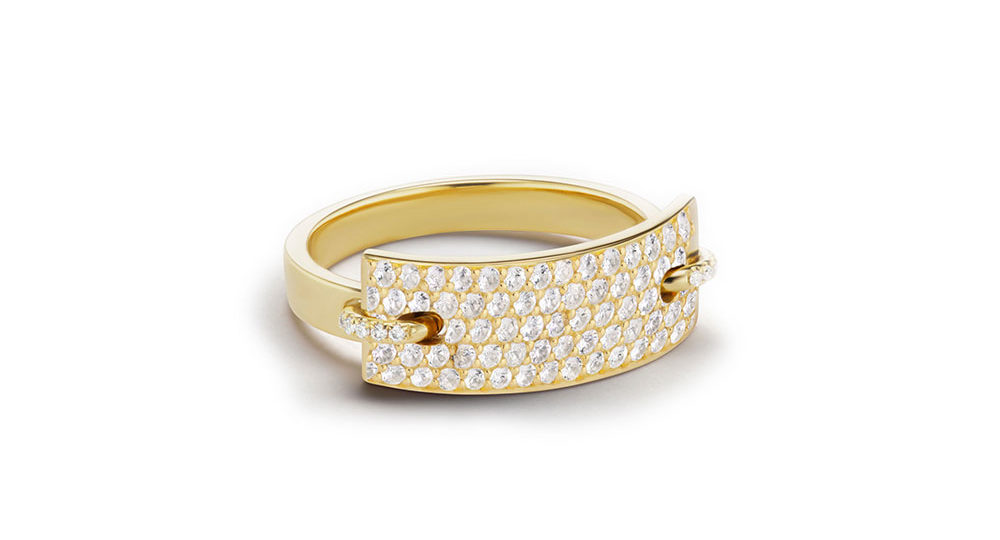 Nom de plume diamond ring