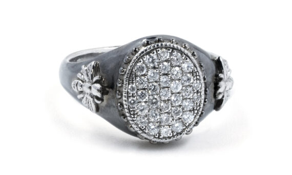 De Jaegher Bee in love ring sterling silver white diamonds
