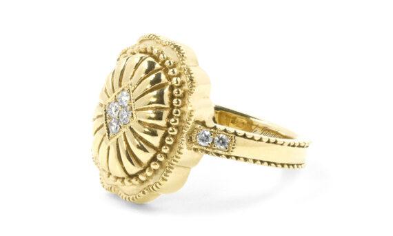 De Jaegher Cowboy dream ring vermeil white diamonds