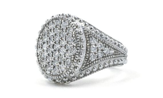 De Jaegher Divinely ring sterling silver diamonds