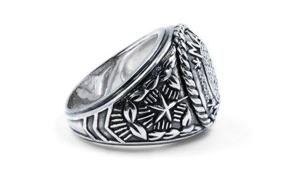 De Jaegher Mad 1969 ring silver diamonds 3