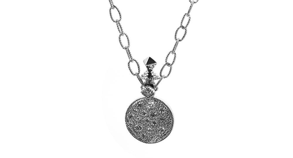 """Moonlight"" medal on chain"