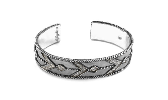 De Jaegher Broken arrow cuff black rhodium 3