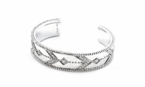 De Jaegher Broken arrow cuff white rhodium 2