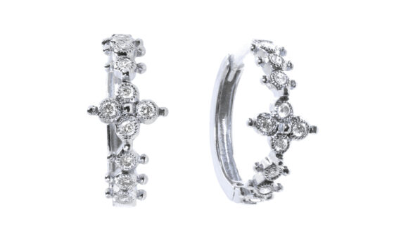 De Jaegher Mini darling flower white gold diamonds