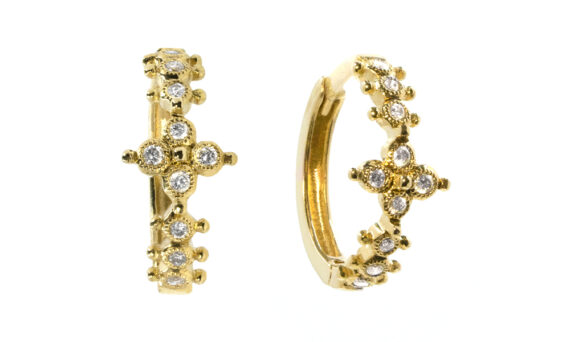 De Jaegher Mini darling flower yellow gold diamonds