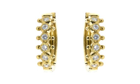 De Jaegher Mrs Darling earrings yellow gold diamond