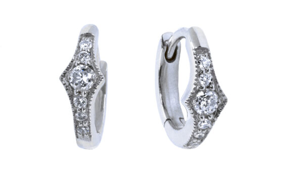De Jaegher Spicy earrings white gold diamonds
