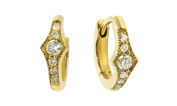 De Jaegher Spicy earrings yellow gold diamonds