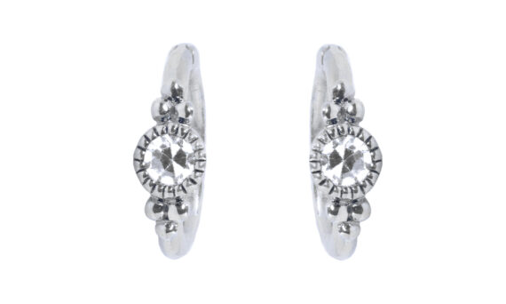 De Jaegher Sunny bubbles earrings white gold