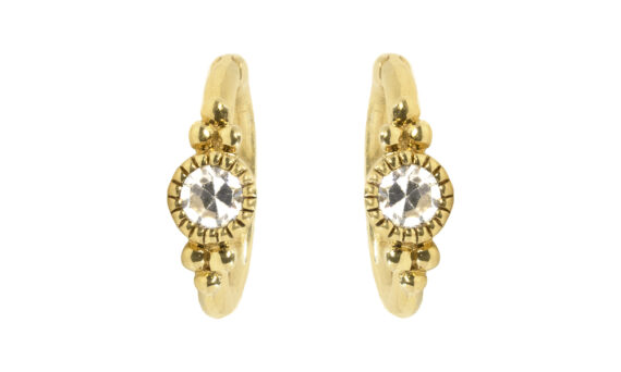 De Jaegher Sunny Bubbles earrings yellow gold diamond