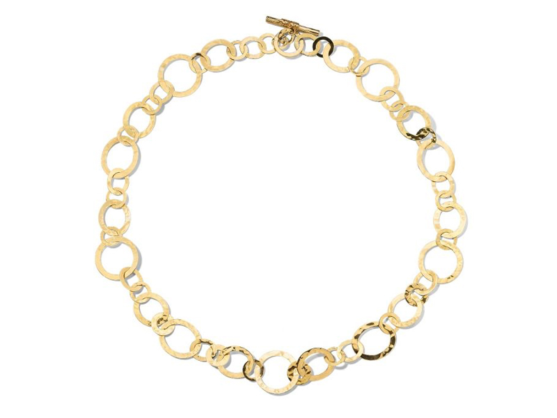 IPPOLITA - Multi Shaped Crinkle Link Necklace in 18K Gold