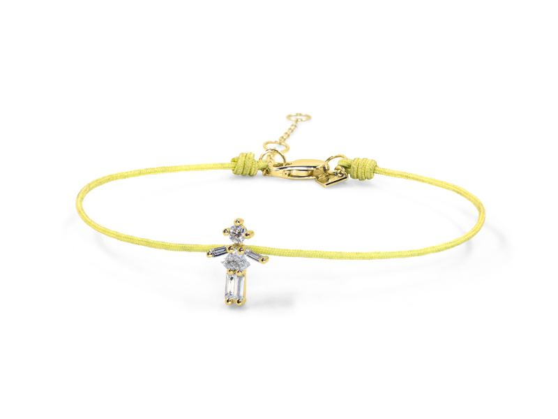 Little Ones Paris - Bracelet Fil Petite Fille en or jaune et diamants