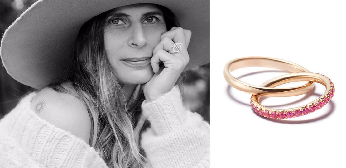 Sandrine de Laage Boyfriend ring and portrait