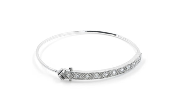 De Jaegher Loveliness cuff sterling silver diamonds