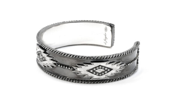 De Jaegher Savannah cuff sterling silver diamonds